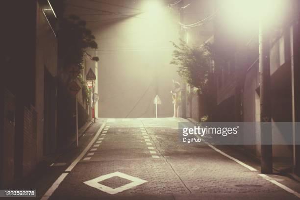 fog in the midnight - 真夜中 ストックフォトと画像