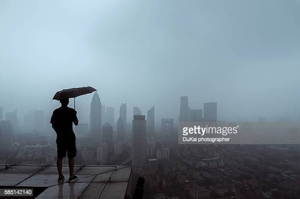 fog in tianjin - smog stock pictures, royalty-free photos & images