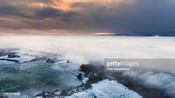 fog inversion - lancashire stock pictures, royalty-free photos & images
