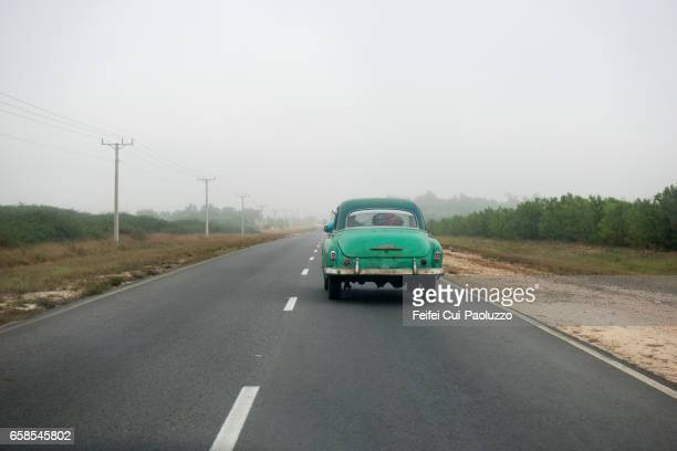 Fog on the higway near Cienfuegos, Cuba