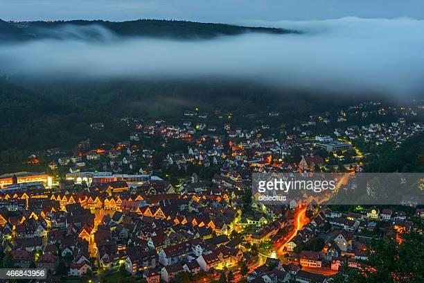Fog over Bad Urach Swabian Alb