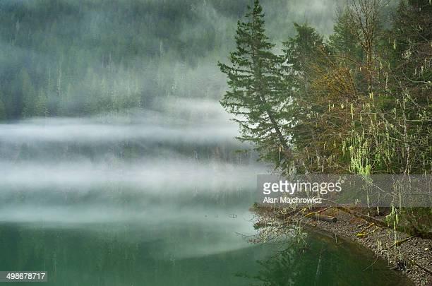 Fog over Baker Lake, North Cascade