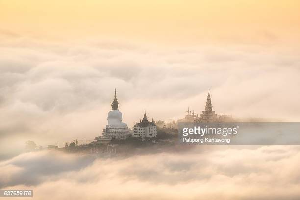 Fog over  Big Buddha statue.