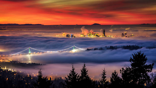 Fog over Downtown Vancouver