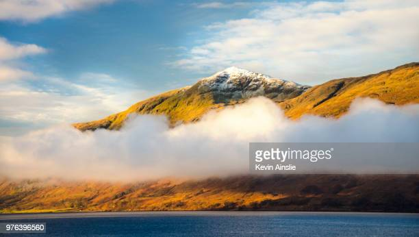 Fog over Loch Linnhe, Fort William, Highland, Scotland, UK