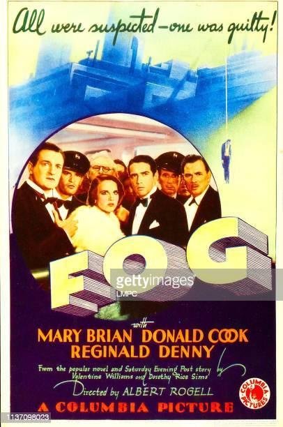 Mary Brian right of center Donald Cook far right Reginald Denny on midget window card 1933