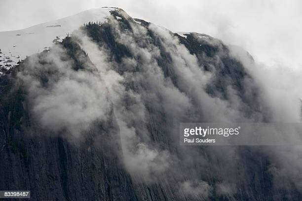 Fog Rolls over Cliff, Misty Fjords, Alaska