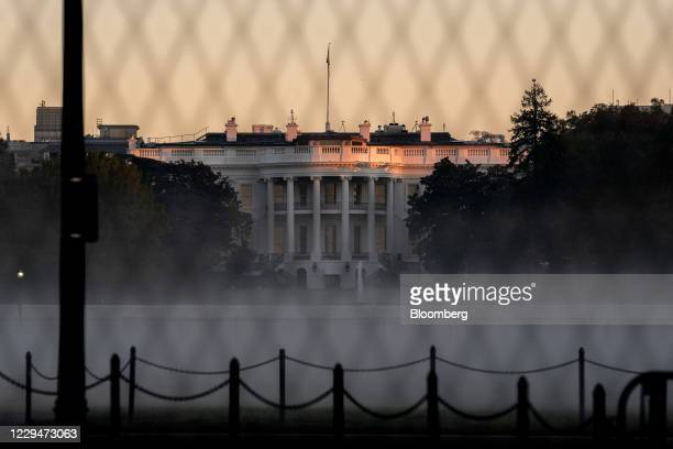 Fog surrounds the White House in Washington, D.C., U.S., on Thursday, Nov. 5, 2020. Joe Biden stood on the brink of claiming the presidency from...
