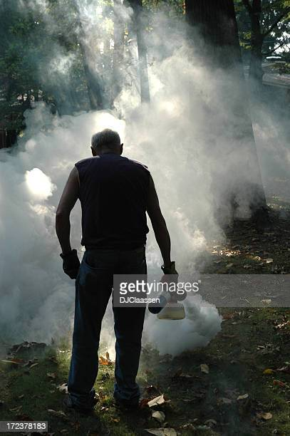 fogging mosquitoes - mosquito stock photos and pictures