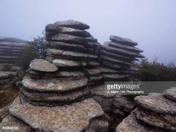Foggy day at el Torcal de Antequera (Spain)