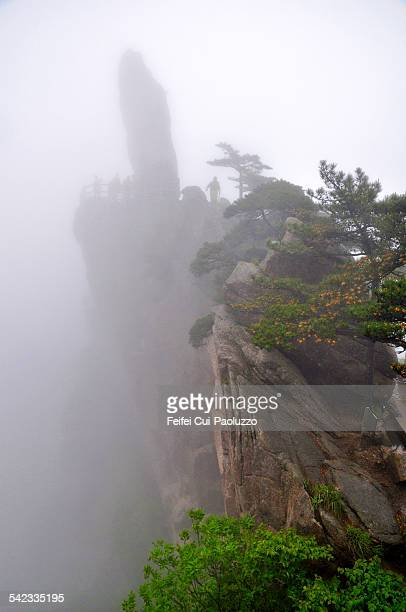 Foggy day at Huangshan Anhui Province China