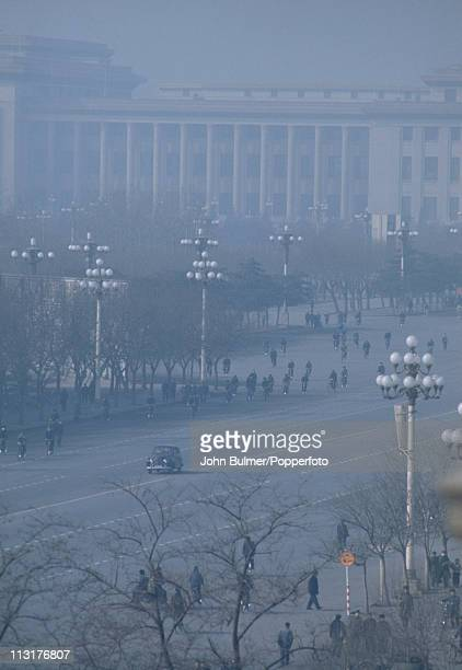 A foggy day in Pyongyang North Korea February 1973
