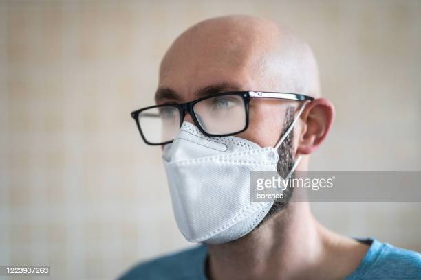 foggy glasses - nose mask stock pictures, royalty-free photos & images