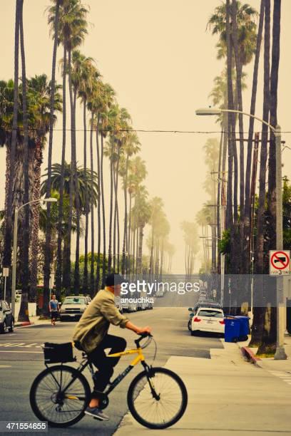 Foggy Morgen in Santa Monica, Kalifornien