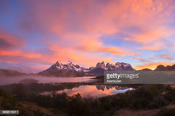 Foggy Morning of Torres Del Paine
