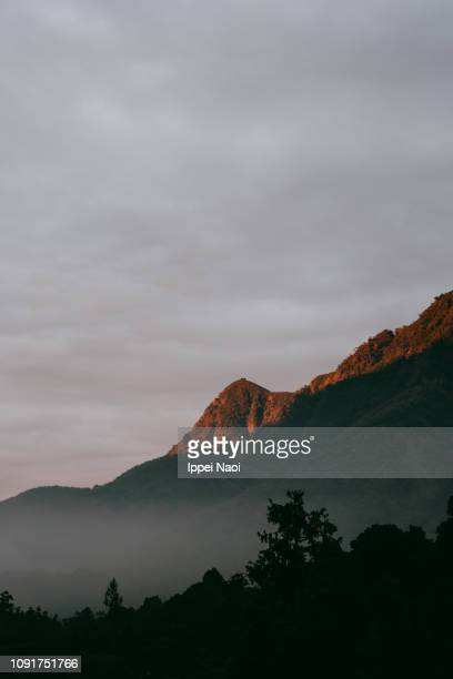 Foggy mountain at sunset, Taiwan