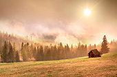 Foggy Mountain Landscape - Tatra Mountains