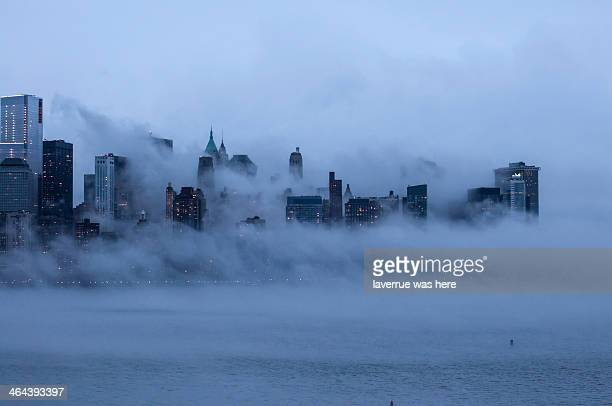 Foggy New York City