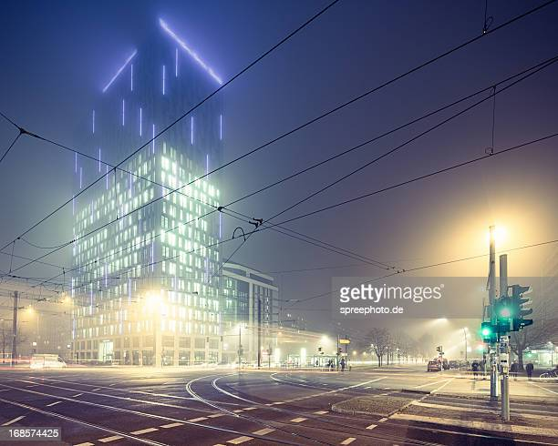 Foggy night at berlin
