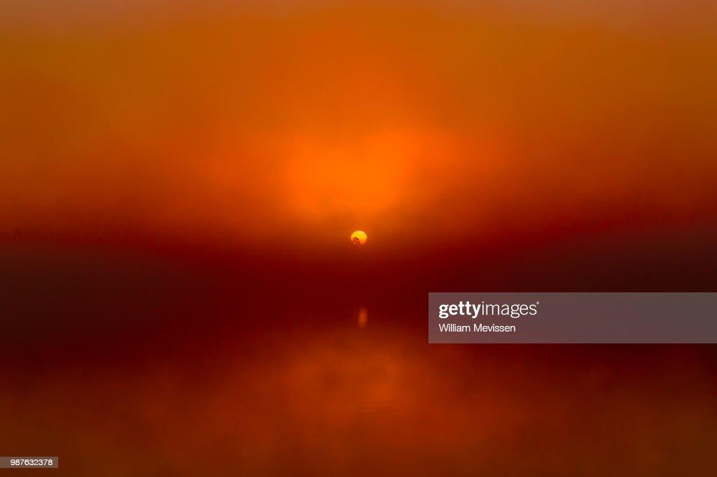 Foggy Sunrise 'Red' : Stockfoto