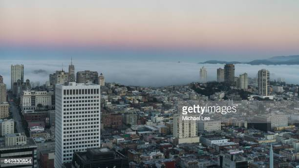 Foggy Sunrise View of San Francisco