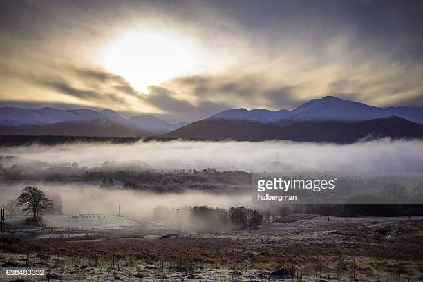 Foggy Winter Morning in Spean Bridge