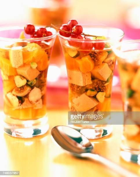foie gras and dried fruit in jelly - gras stock pictures, royalty-free photos & images