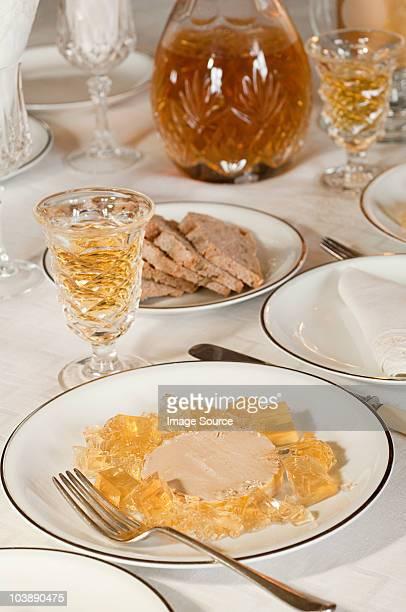 Foie gras and sweet wine