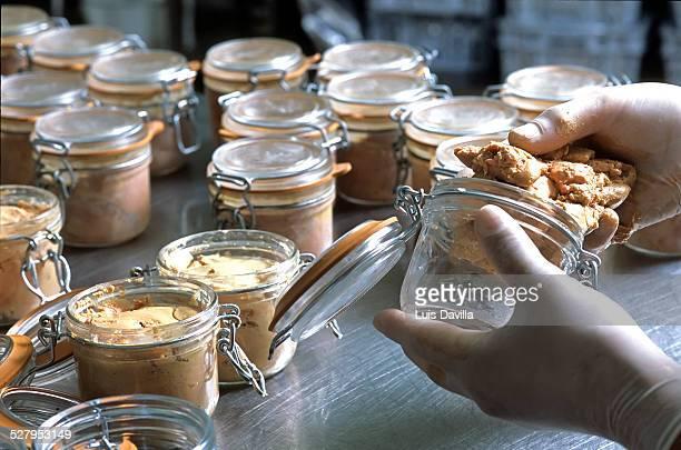 foie gras production. - foie gras photos et images de collection