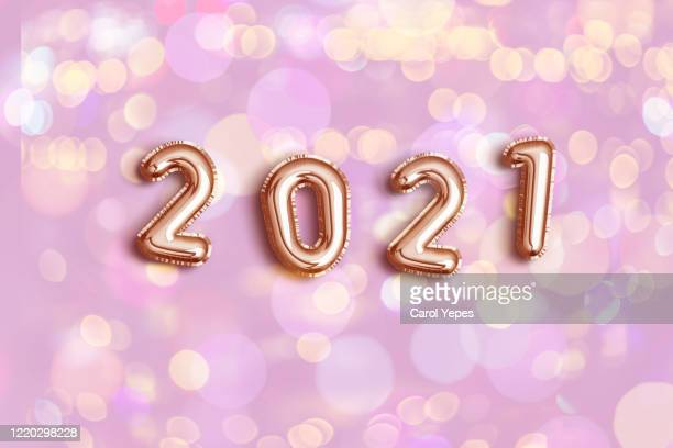 2021 foiled balloon - january stock pictures, royalty-free photos & images