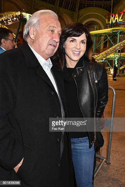 Foire du Trone CEO Marcel Campion and Caroline Barclay attend the 'Jours de Fete au Grand Palais' Fete foraine Opening at Grand Palais on December...