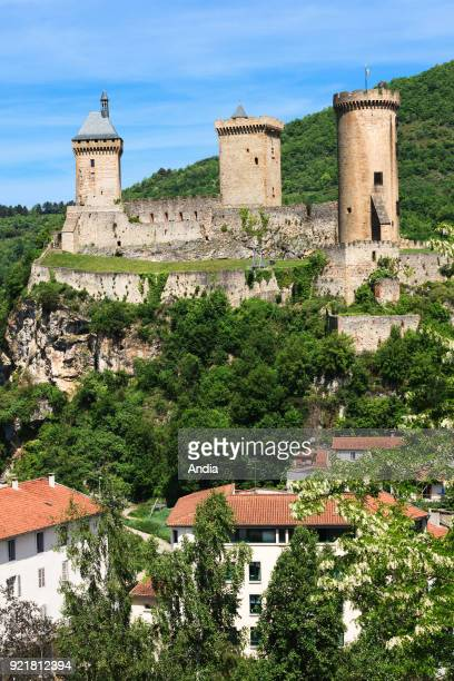 Foix , May 2015. Listed as a National Historic Landmark since 1840, the fortress overlooks the town.