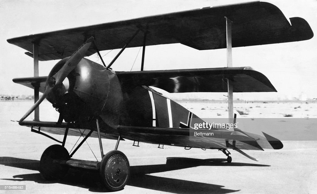 A Fokker Dr.I triplane, the plane of choice of the Red Baron, Manfred von Richthofen.