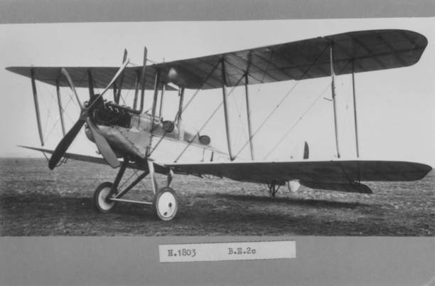 The British BE2c, built for reconnaissance due to its...