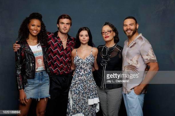 Fola Evans-Akingbola, Alex Roe, Eline Powell, Rena Owen and Ian Verdun from 'Siren' are photographed for Los Angeles Times on July 19, 2018 in San...