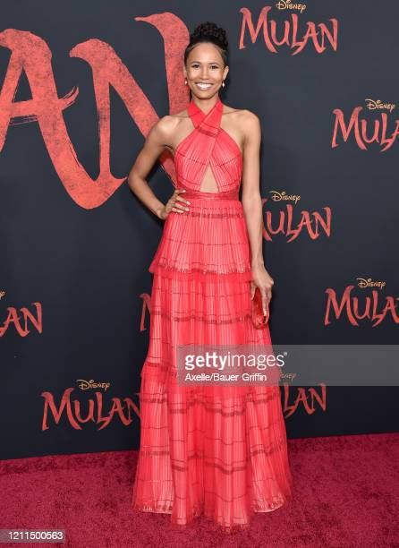 Fola EvansAkingbola attends the premiere of Disney's Mulan on March 09 2020 in Hollywood California