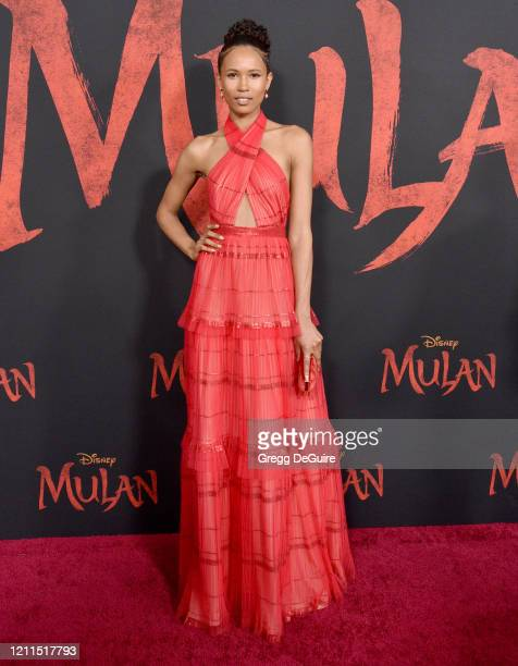 "Fola Evans-Akingbola attends the Premiere Of Disney's ""Mulan"" on March 09, 2020 in Hollywood, California."