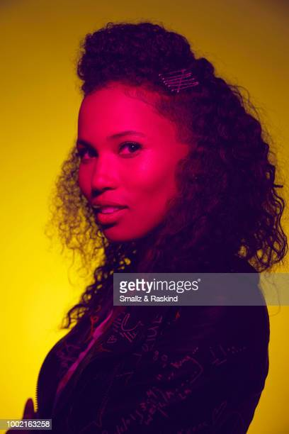 Fola EvansAkingbola from Freeform's 'Siren' poses for a portrait in the Getty Images Portrait Studio powered by Pizza Hut at San Diego 2018 Comic Con...
