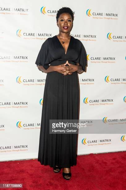 Folake Olowofoyeku attends the Clare Matrix 22nd Annual Tribute Dinner at Fairmont Miramar Hotel on November 14 2019 in Santa Monica California