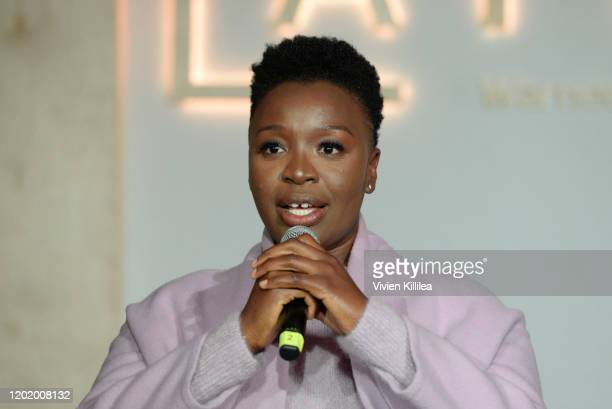 Folake Olowofoyeku attends the Women in Film Panel at Lateral at WarnerMedia Lodge Elevating Storytelling with ATT during Sundance Film Festival 2020...