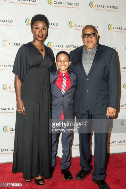Folake Olowofoyeku Travis Wolfe Jr and Barry Shabaka Henley attend the Clare Matrix 22nd Annual Tribute Dinner at Fairmont Miramar Hotel on November...