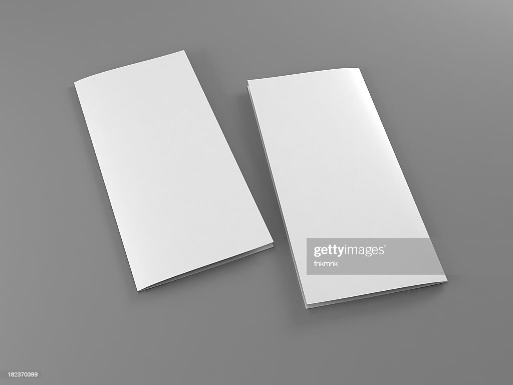 folded 2 sides flyer template : Stock Photo