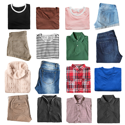 Folded clothes isolated 1137498593