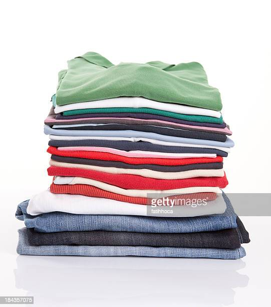 folded clothing - clothing stock pictures, royalty-free photos & images