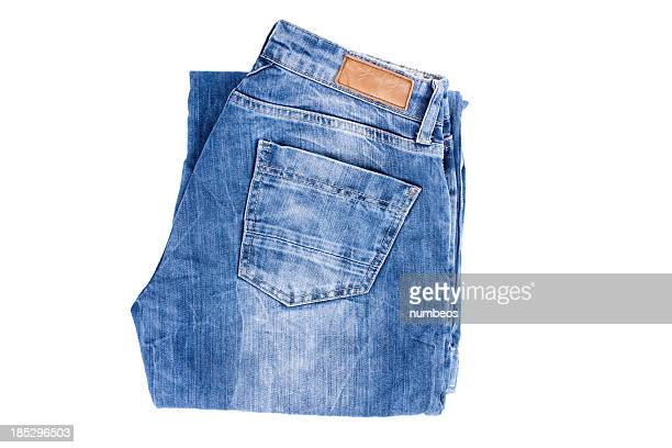 folded jeans - trousers stock pictures, royalty-free photos & images