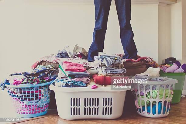 Folded laundry