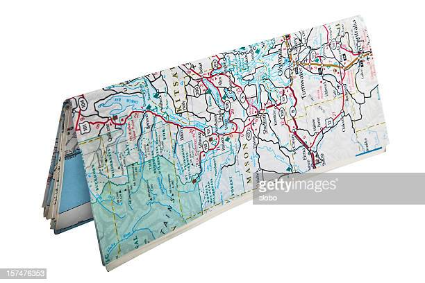 folded map standing - folded stock photos and pictures