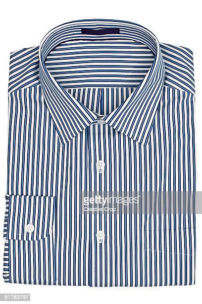 Folded men's business shirt