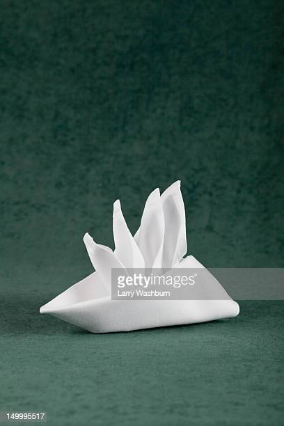 a folded napkin - napkin stock pictures, royalty-free photos & images