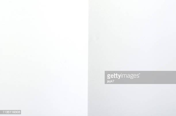 folded paper - white background ストックフォトと画像